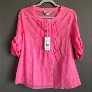 Vineyard Vines • NEW! Hot Pink Blouse